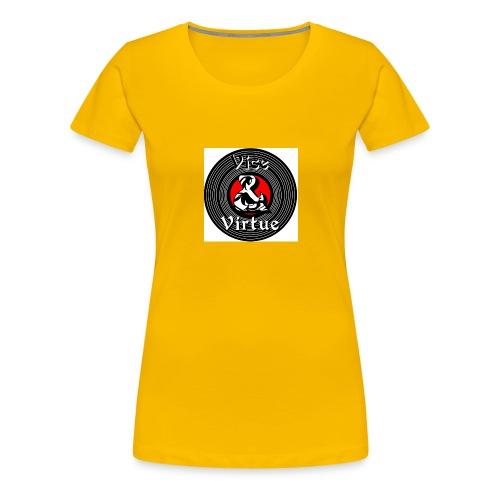 Vice and Virtue White Background No Info Circle - Women's Premium T-Shirt