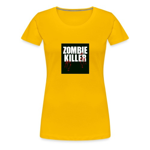 zombie killer shirt green - Women's Premium T-Shirt