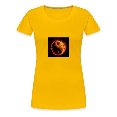 Panda fire circle - Women's Premium T-Shirt