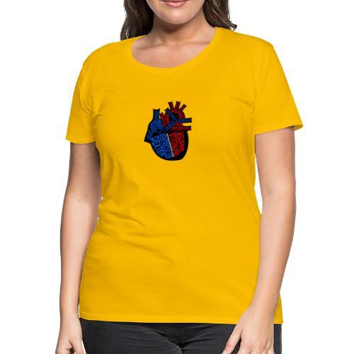 Skeleton Heart - Women's Premium T-Shirt