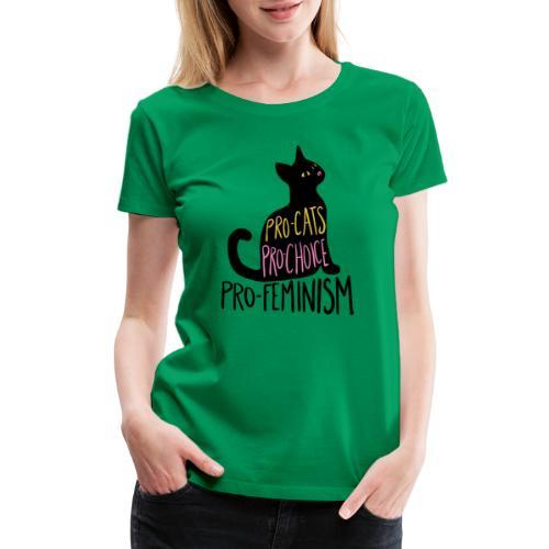 Pro-cats pro-choice pro-feminism - Women's Premium T-Shirt