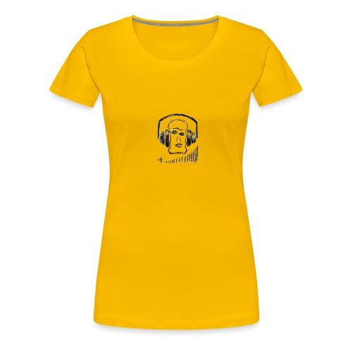 music head headphones sketch - Women's Premium T-Shirt