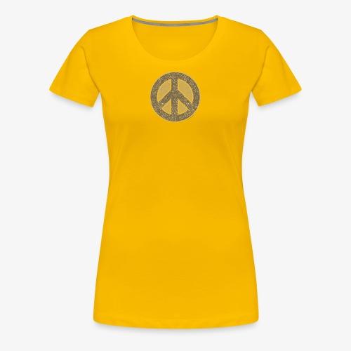 Peace Symbol Khaki - Women's Premium T-Shirt