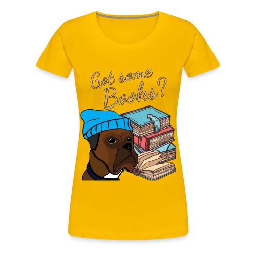Funny boxer and book lover tshirt - Women's Premium T-Shirt