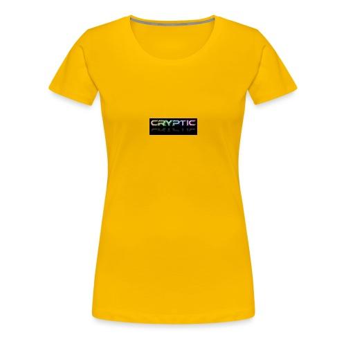 Cryptic Bonus Logo - Women's Premium T-Shirt