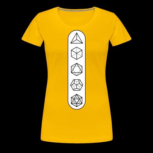 platonic-white-bg - Women's Premium T-Shirt