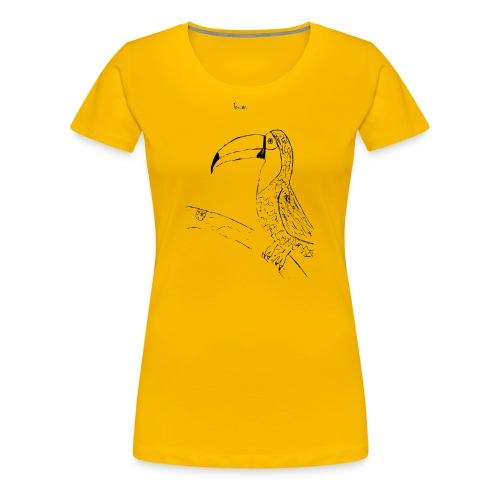 Stephen's hand drawn Toucan - Women's Premium T-Shirt