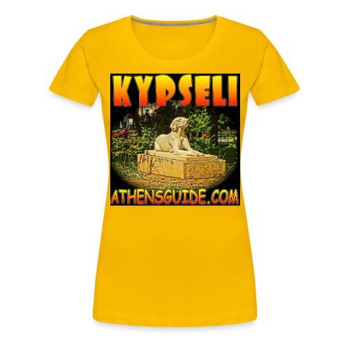KYPSELI DOG BLACK 2 jpg - Women's Premium T-Shirt