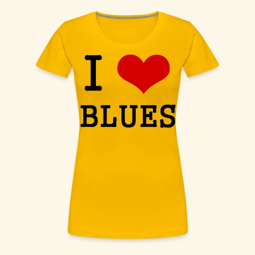 I Heart Blues - Women's Premium T-Shirt