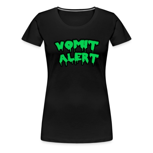 vomit alert design - Women's Premium T-Shirt