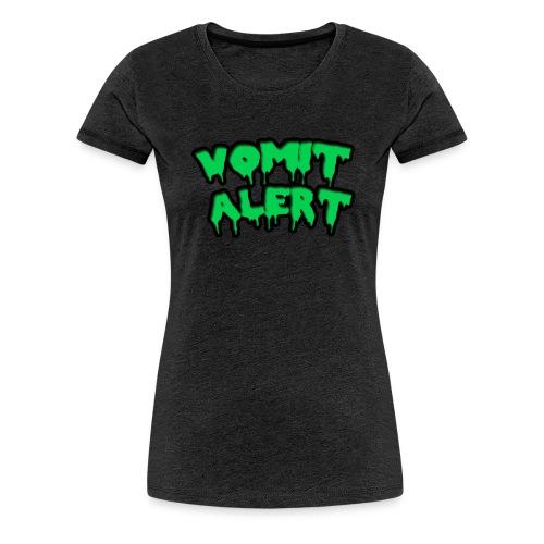 vomit alert design - Women's Premium T-Shirt