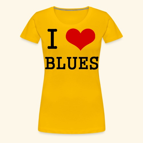 I Heart Blues - Women's Premium T-Shirt