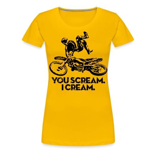 FMX Dirtbike Scream Cream - Women's Premium T-Shirt