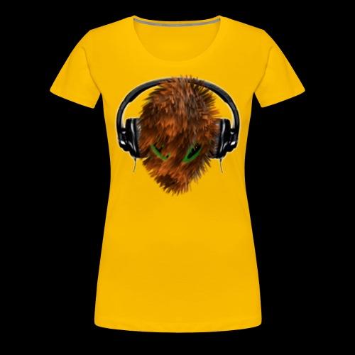Cuddly Furry Alien DJ with Headphones - Women's Premium T-Shirt