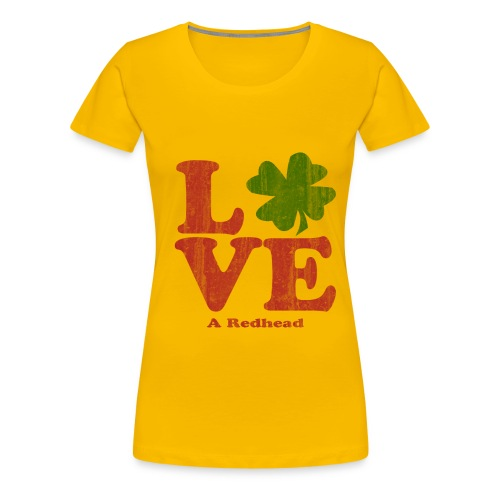 Love A Redhead - Women's Premium T-Shirt