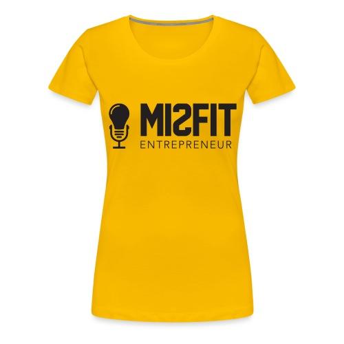 official misfit logo blac - Women's Premium T-Shirt