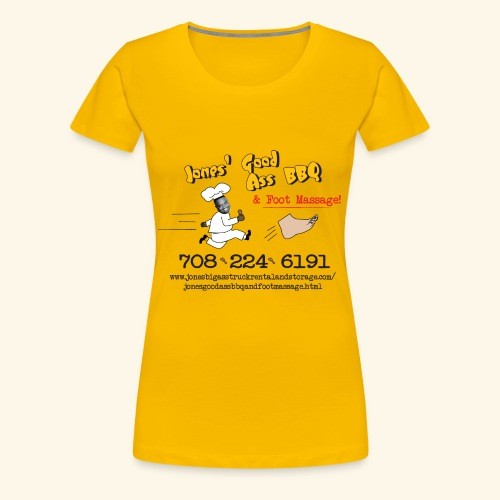 Jones Good Ass BBQ and Foot Massage logo - Women's Premium T-Shirt