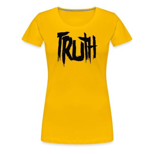 TruthLogo01 Black png - Women's Premium T-Shirt