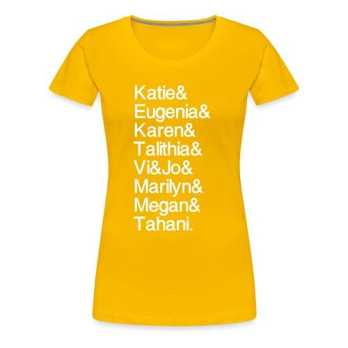 MathGals & Megan with hashtag - Women's Premium T-Shirt