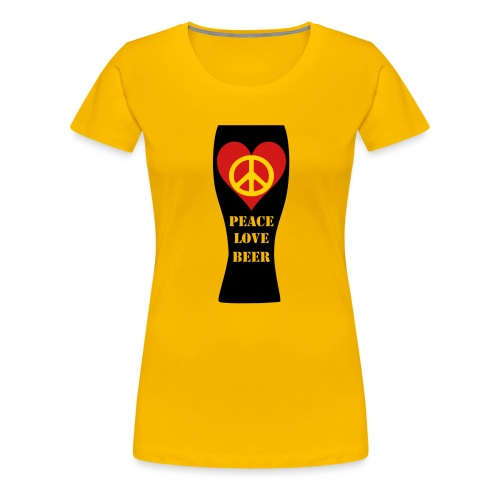 Peace Love Beer - Women's Premium T-Shirt