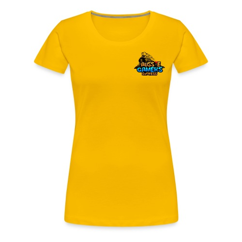 aussiegamers01CROPPED png - Women's Premium T-Shirt