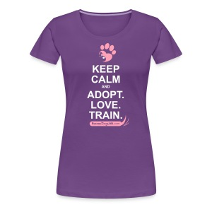 RescueDogs101 Keep Calm - Women's Premium T-Shirt
