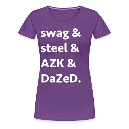 ssad white letters - Women's Premium T-Shirt