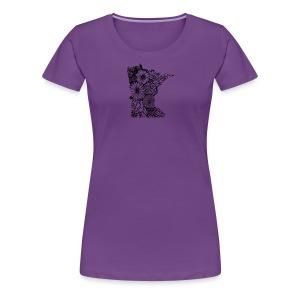 MINNESOTA MN WILDFLOWER - Women's Premium T-Shirt
