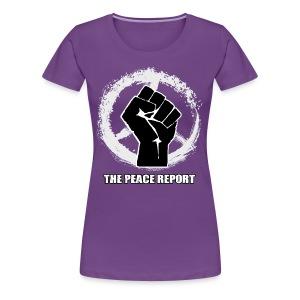 The Peace Report Signature Peace Sign & Fist - Women's Premium T-Shirt