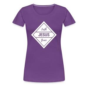 Faith Grace Jesus - Women's Premium T-Shirt