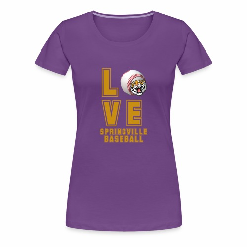 LOVE BASEBALL - Women's Premium T-Shirt