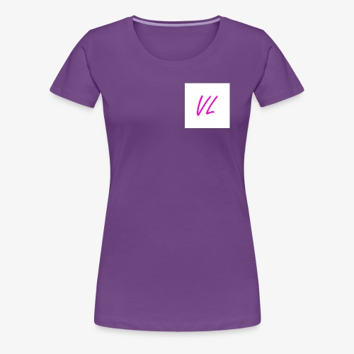 Pink VL Cursive - Women's Premium T-Shirt