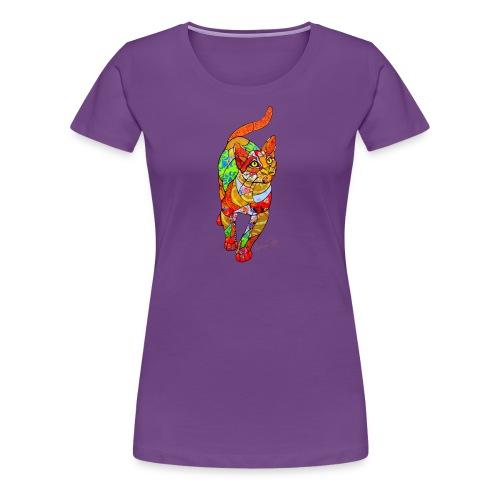 Colorful Mosaic Cat by Solange Piffer Mosaics - Women's Premium T-Shirt
