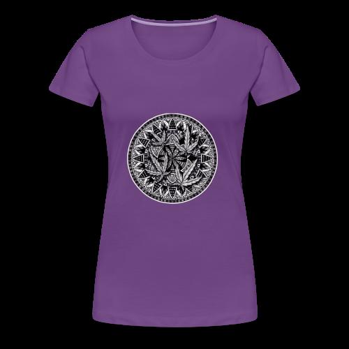 Weed Leaf Design - Women's Premium T-Shirt