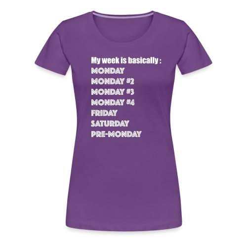 FO3672C3B4A2 Artboard 1 - Women's Premium T-Shirt