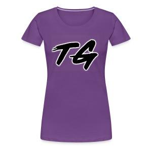Black and White Lettering - Women's Premium T-Shirt