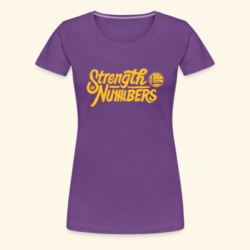 strength in numbers golden states - Women's Premium T-Shirt