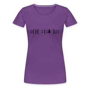 Bash Fork Bomb - Hacker Command Black Design - Women's Premium T-Shirt