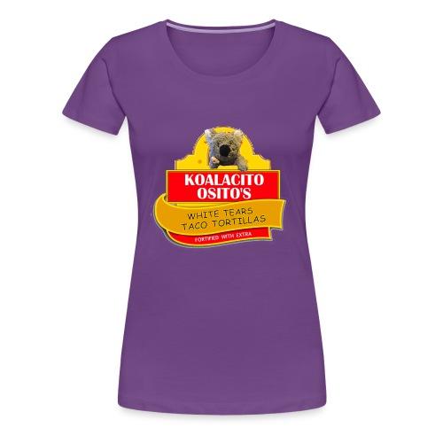 Koalacito Osito's White Tears Taco Tortillas - Women's Premium T-Shirt