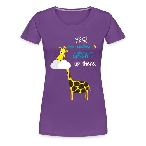 Funny Giraffe T-shirt for men women kids - Women's Premium T-Shirt
