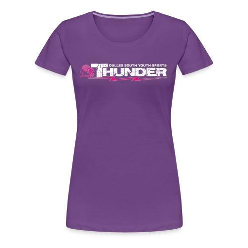 DSYS Cheer Logo Transparent White w/Pink - Women's Premium T-Shirt