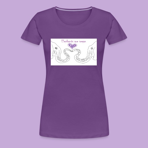 Elephants are vegan - Women's Premium T-Shirt