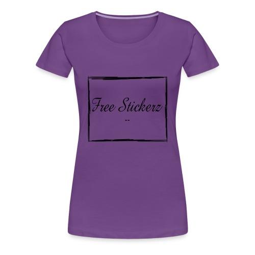 Free Stickerz 2017 Logo With Box - Women's Premium T-Shirt