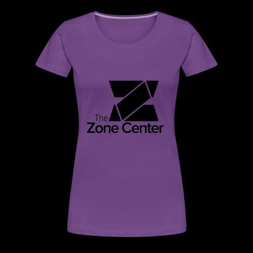Zone Center T Shirt Logo Black - Women's Premium T-Shirt
