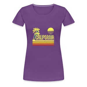 T Shirt Vintage California distressed look - Women's Premium T-Shirt
