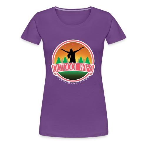 outdoorwifelogowhite 01 01 - Women's Premium T-Shirt