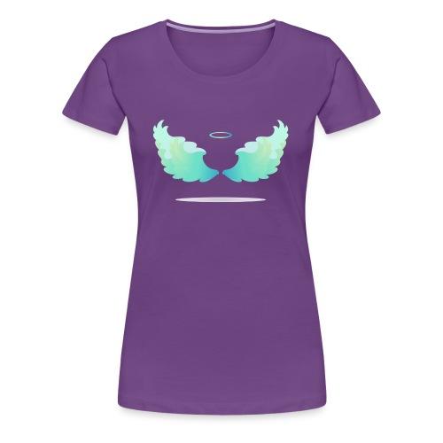Angel wings with nimbus - Women's Premium T-Shirt
