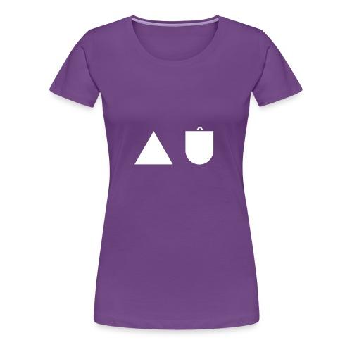 A U White - Women's Premium T-Shirt
