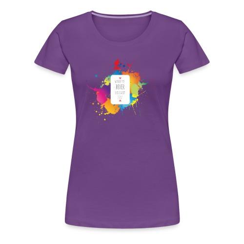 Gray life without a boxer - Women's Premium T-Shirt