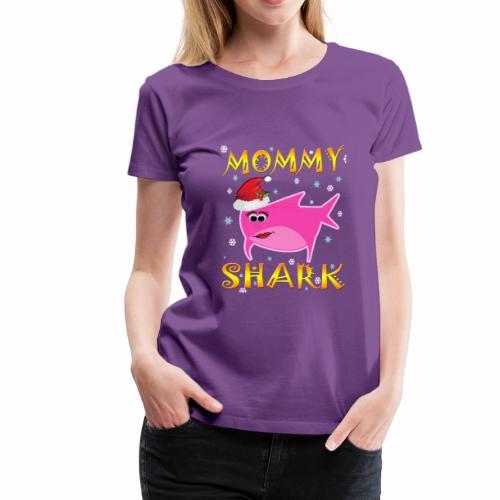 Mommy Shark Christmas Design Gift Idea - Women's Premium T-Shirt